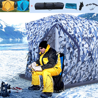 2019 New Professional Tent For Fishing Ice Winter Outdoor Camping Thick Cotton Warm Automatice Pop Up Shelter Carp Fish Bivouac