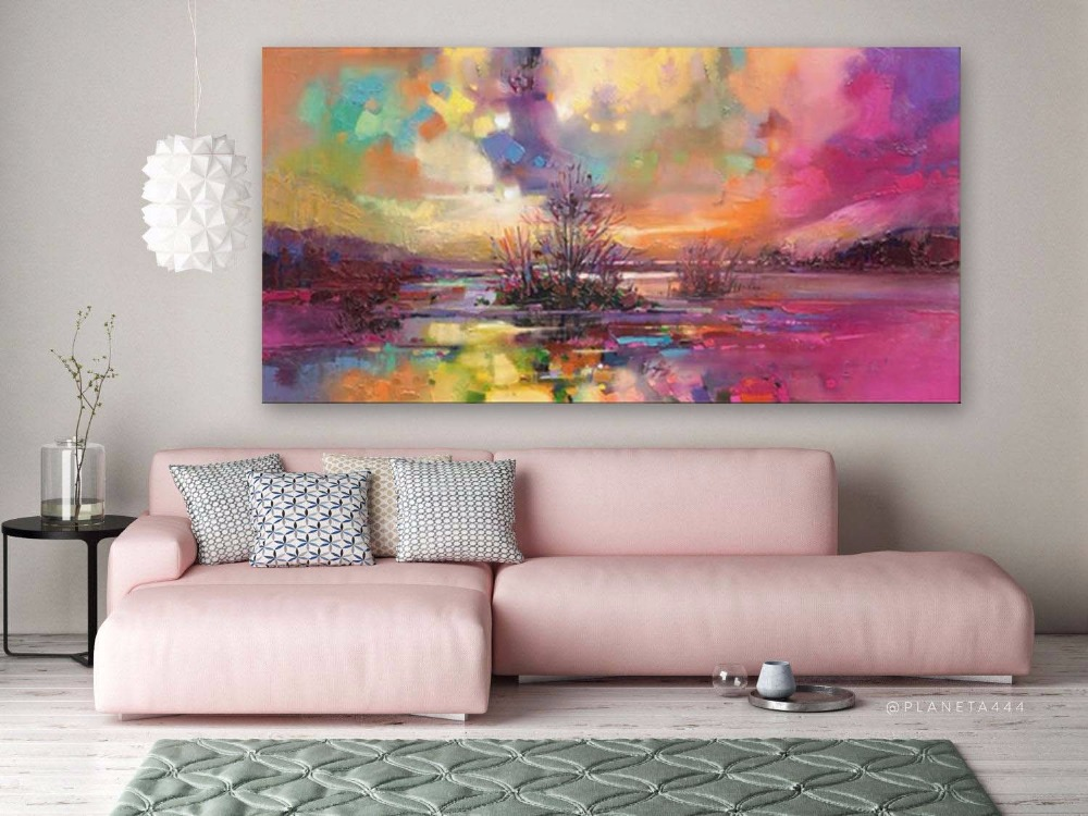 Handpainted Abstract Art Large Painting Canvas Modern Fine Expressionism Wall Decor
