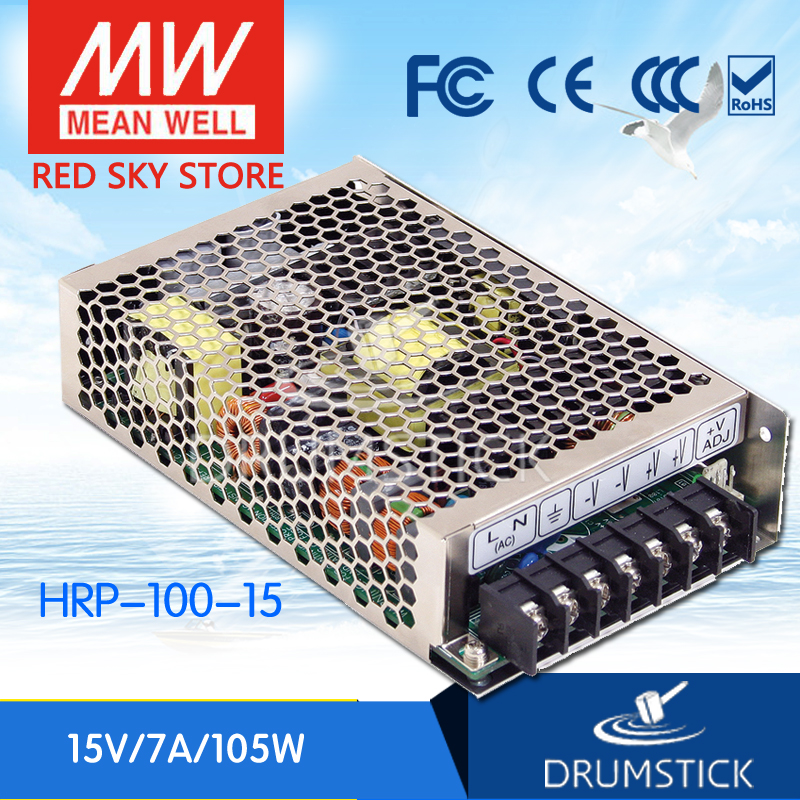 все цены на best-selling MEAN WELL HRP-100-15 15V 7A meanwell HRP-100 15V 105W Single Output with PFC Function  Power Supply онлайн