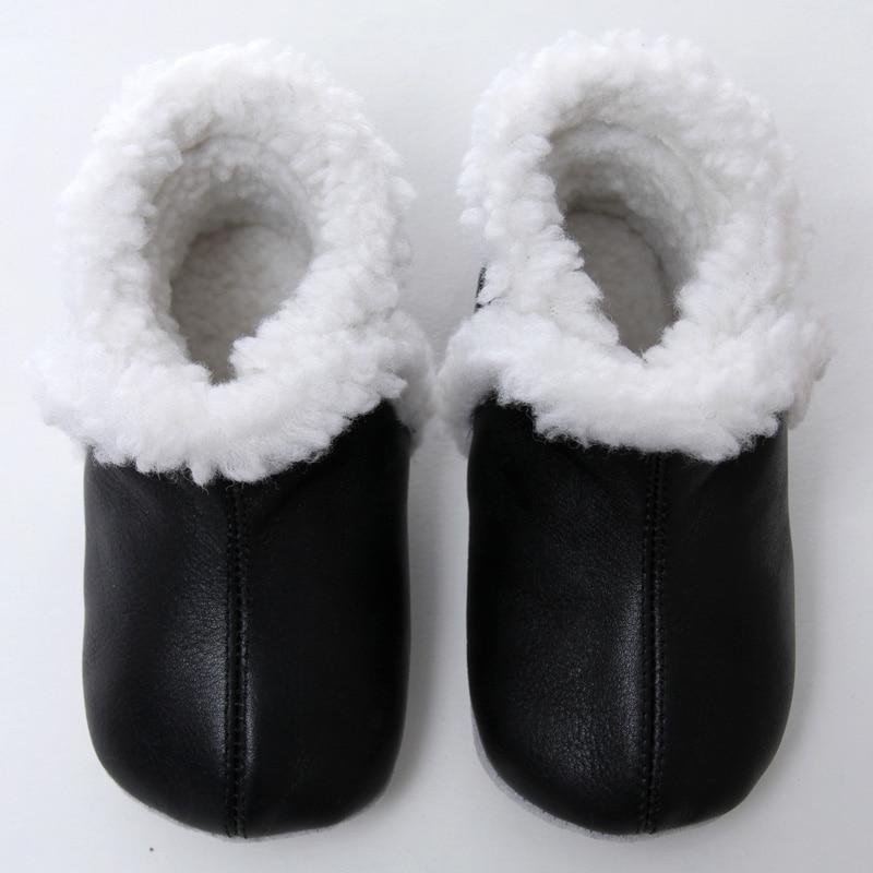 Kulit Sepatu Bayi Musim Dingin Sepatu Salju Bayi Untuk Gadis Hangat Bayi Boot Anak Laki-laki Sepatu Salju Sepatu untuk Anak-anak 0-24 m Lembut Sole Bayi Booties
