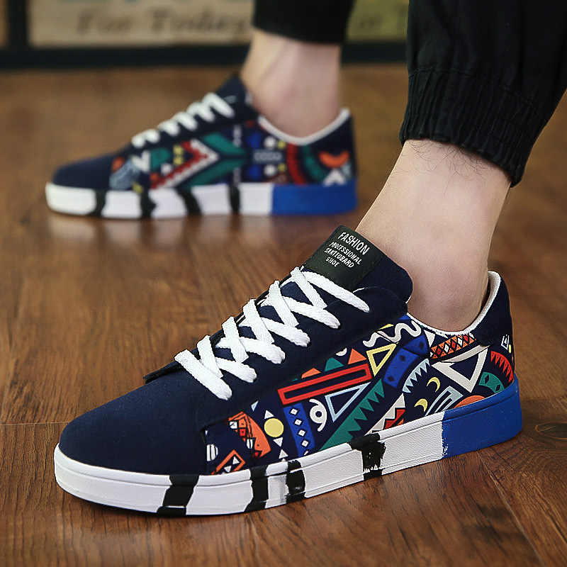 2018 New canvas shoes men skate sneakers Fashion spring autumn Breathable  mesh lace-up 499edecb157
