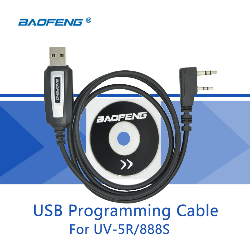 USB Programming Cable For Baofeng UV-5R Driver With CD Software Suitable For BAOFENG UV-82 BF-888S Baofeng Accessories