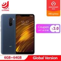 Turkey 3~7 Work Days Global Version Xiaomi PocoPhone F1 Poco Phone 6GB 64GB Snapdragon 845 6.18'' Dual Rear Camera 20MP Phone