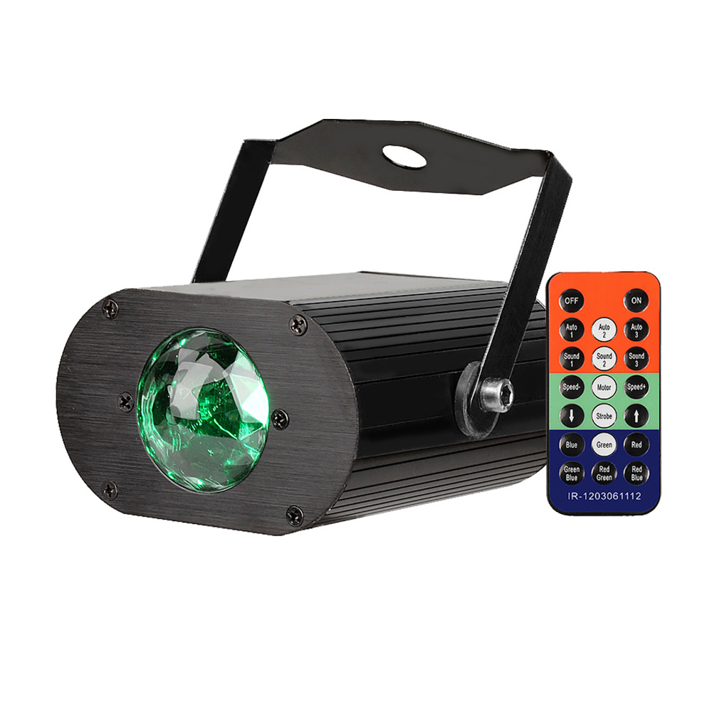 TSSS Ocean Wave Party Light Projector With Remote Disco Ball Sound Activated Stage Strobe RGB Christmas