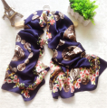 2016 100% Pure Silk Scarf Women Satin Shawls Fashion Print Foulard Femme Long Soft Scarves Wraps Luxury Brand High Quality J6