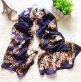 2016 100% Pure Silk Scarf Women Satin Shawls Fashion Print Foulard Femme Long Soft Scarves Wraps Luxury Brand High Quality J6