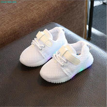 2018 New brand fashion LED lighted children casual shoes Spring/Autumn cool kids sneakers hot sales baby boys girls