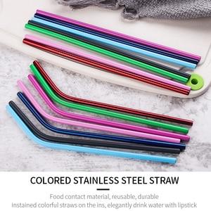 Image 3 - Riutilizzabile Cannuccia di Paglia di Alta Qualità In Acciaio Inox 304 di Paglia di Metallo con Brush Cleaner Per Tazze