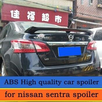 لنيسان سنترا المفسد عالية الجودة ABS المواد سيارة الخلفية الجناح التمهيدي اللون المفسد ل سنترا المفسد مع الفرامل ضوء