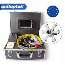 Rohr Inspektion Kamera 20M Kabel 7 zoll TFT LCD Monitor Aluminium Fall System Gebaut in DVR Endoskop Rohr Kanalisation kamera