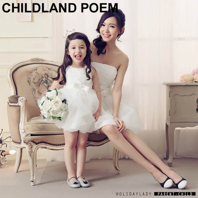 Mom And Daughter Gown Clothes 2016 mother daughter dresses party wedding  princess girls bow gown dress. placeholder ... ddc122ff79bb