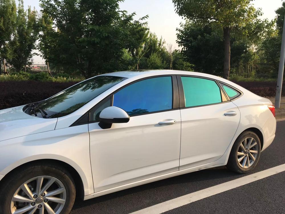 SUNICE UV preuve voiture pare-soleil Film 70cm 150cm voiture pare-brise Film VLT55 % Chemeleon teinte vinyle Film Protection solaire été utilisation