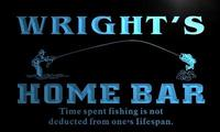 X1031 Tm Wright S Home Bar Fishing Hole Custom Personalized Name Neon Sign Wholesale Dropshipping