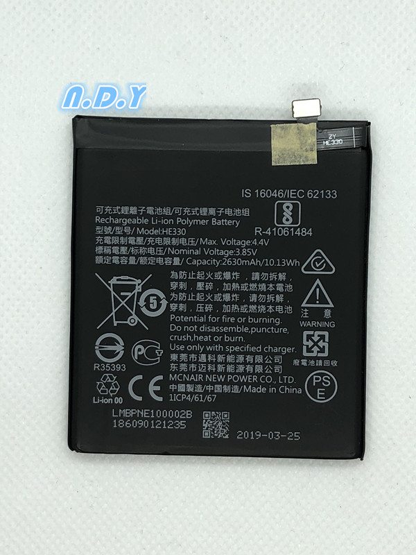 Original HE330 2630mAh Battery For Nokia 3 DUAL TA 1032 HE 330 Batteries Bateria in Mobile Phone Batteries from Cellphones Telecommunications