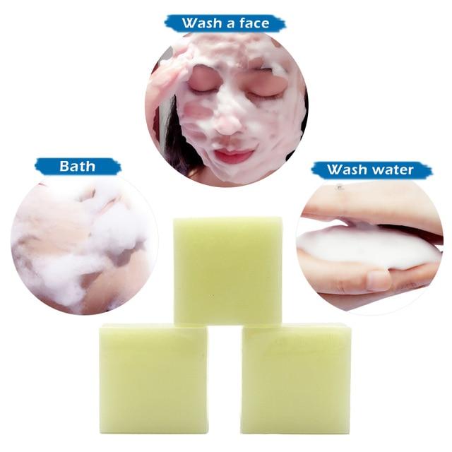 Sea Salt Soap Cleaner Removal Pimple Pores Acne Treatment Goat Milk Moisturizing Face Care Wash Basis Soap Savon Au Hot TSLM1 5