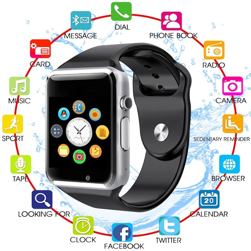 A1 moda mężczyźni i kobiety inteligentny zegarek urządzenie do - Męskie zegarki - Zdjęcie 1