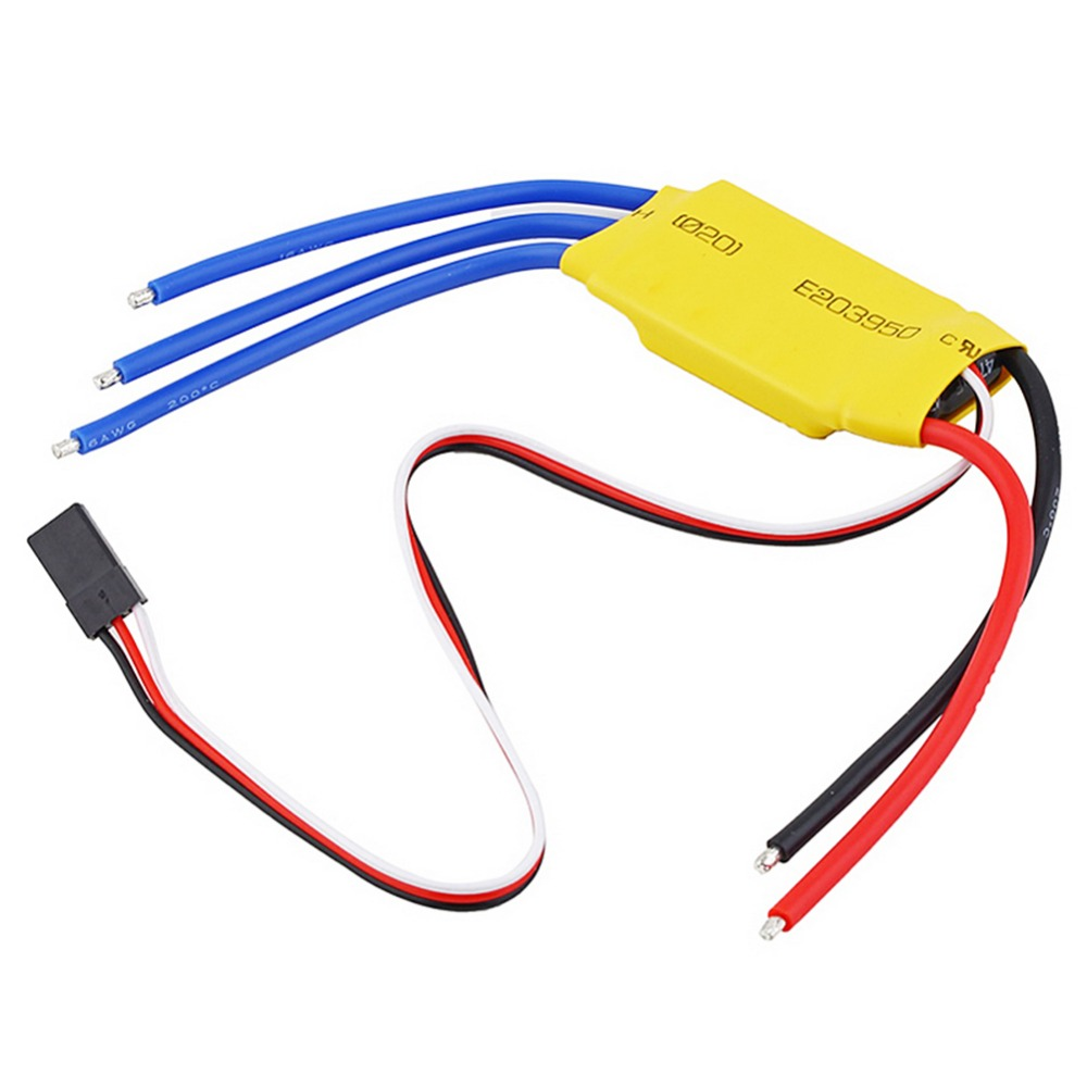 30A Brushless Motor Speed Controller RC BEC ESC T-rex 450V2 P10 lhm005 30a brushless motor speed controller control rc bec esc for t rex 450 helicopter
