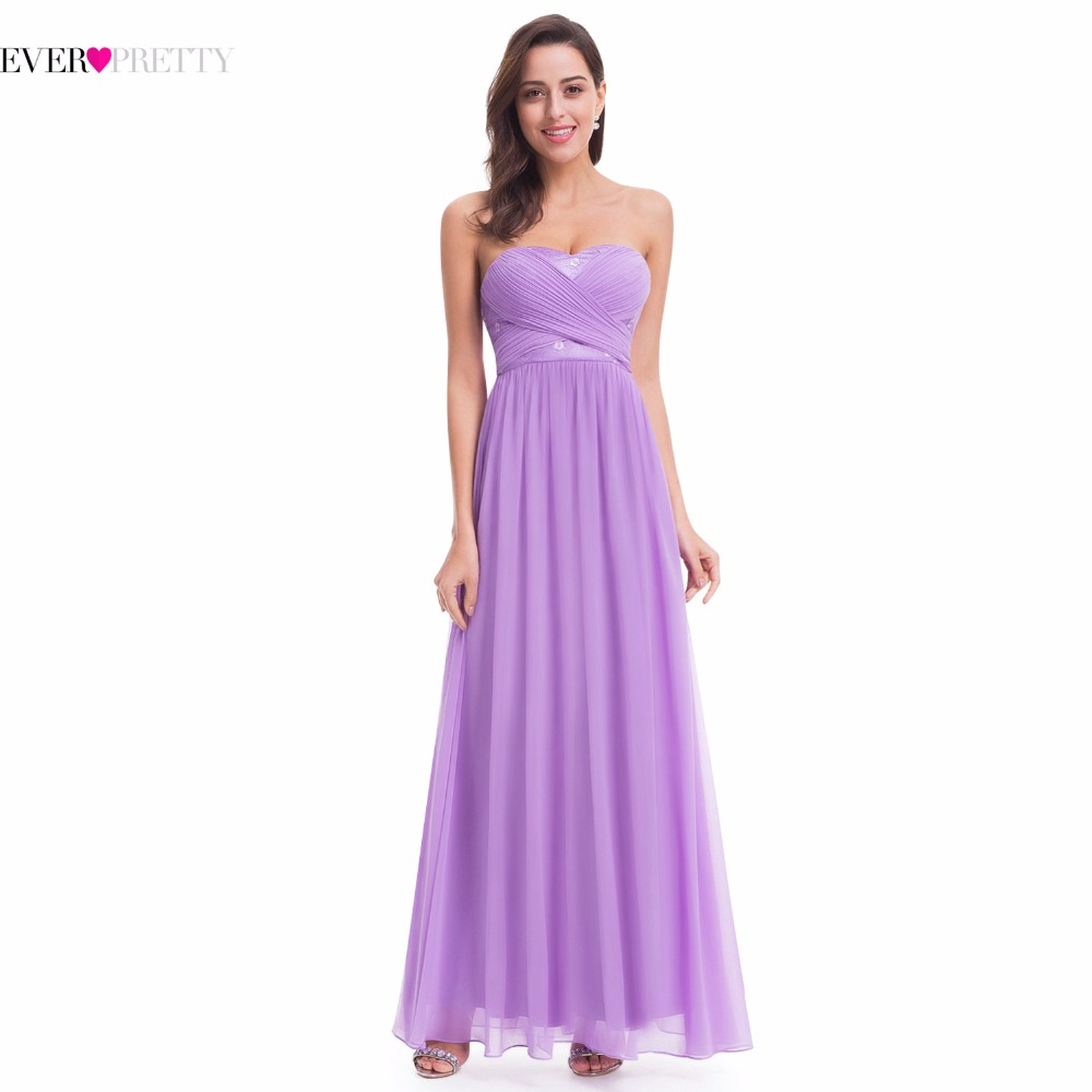 Ever Pretty Wedding Bridesmaid Dresses EP07057LV Long Chiffon ...