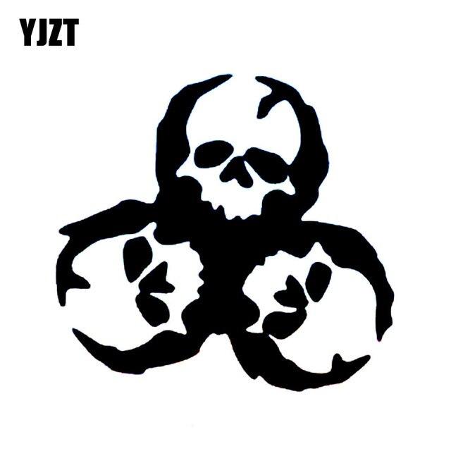 Yjzt 1514Cm Zombie Skull Biohazard Outbreak Walking Team -2340