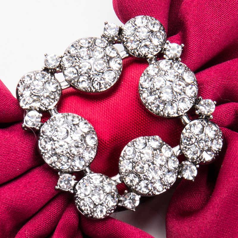 7a6b64d925b ... Large Rhinestone Bow Brooches For Women Shirt Dress Broches Jewelry  Vintage Collar Corsage Silk Bowknot Tie ...