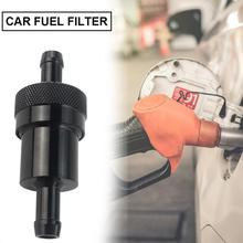 Professional Black Car Fuel Filter 5/16 1/4 Inch More Responsive Washable Two-caliber Oil Polished Aluminum