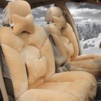 Only Front Plush winter warm car seat covers For Suzuki all model swift grand vitara Kizashi S CROSS VITARA sx4 Baleno car style