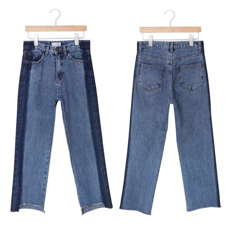 plus size denim women pants jeans ripped high waist blue long irregular boyfriend 5xl bf woman womens winter casual trouser 2