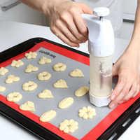 Haute qualité biscuits moule pistolet 12 fleur moule + 6 pâtisserie conseils emporte-pièce Machine Biscuit fabricant bricolage outils de cuisson M1299