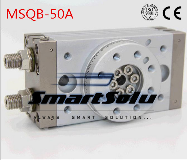 Free Shipping double acting air table rotary cylinder pneumatic actuators  type MSQB-50A with internal shock absorber pneumatic cylinder cdg1bn40 50 air cylinder 5pcs sets free shipping