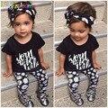 3Piece/0-24Months/Summer Newborn Clothing Set Baby Suits Short Sleeve T-shirt+Flowers Pants+Headband Infant Girls Clothes BC1187