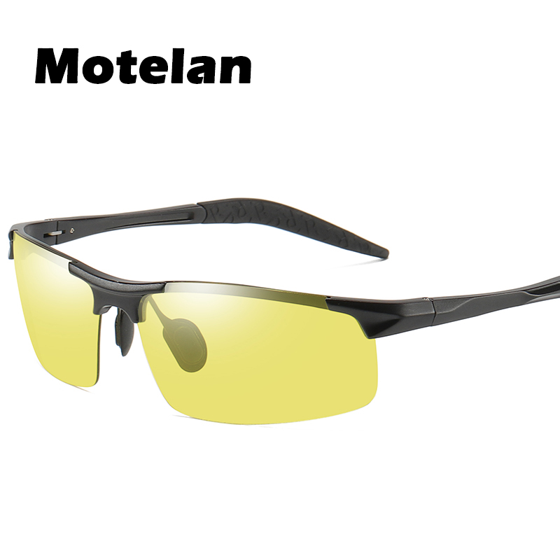 be9093899b Day Night Photochromic Polarized Sunglasses Men s Driving Glasses Night  Vision Male Safety Fishing UV400 Yellow to