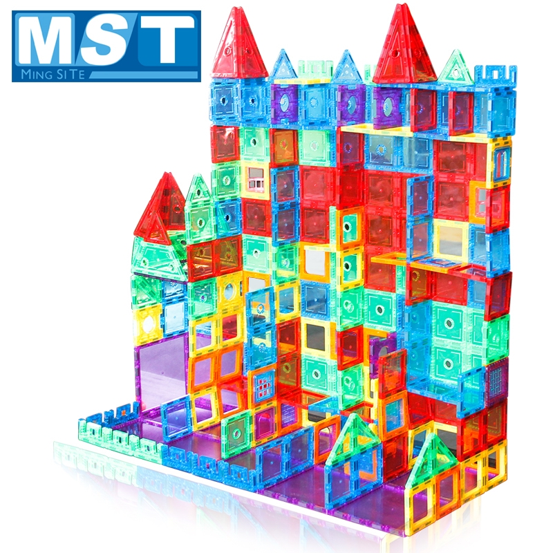 98PCS Clear Color Magnete Costruzione di Piastrelle di Giocattoli per Bambini Blocchi di Costruzione Magnetico 3D Playboards La Creatività Dei Bambini Giocattolo-in Magnetismo da Giocattoli e hobby su  Gruppo 1