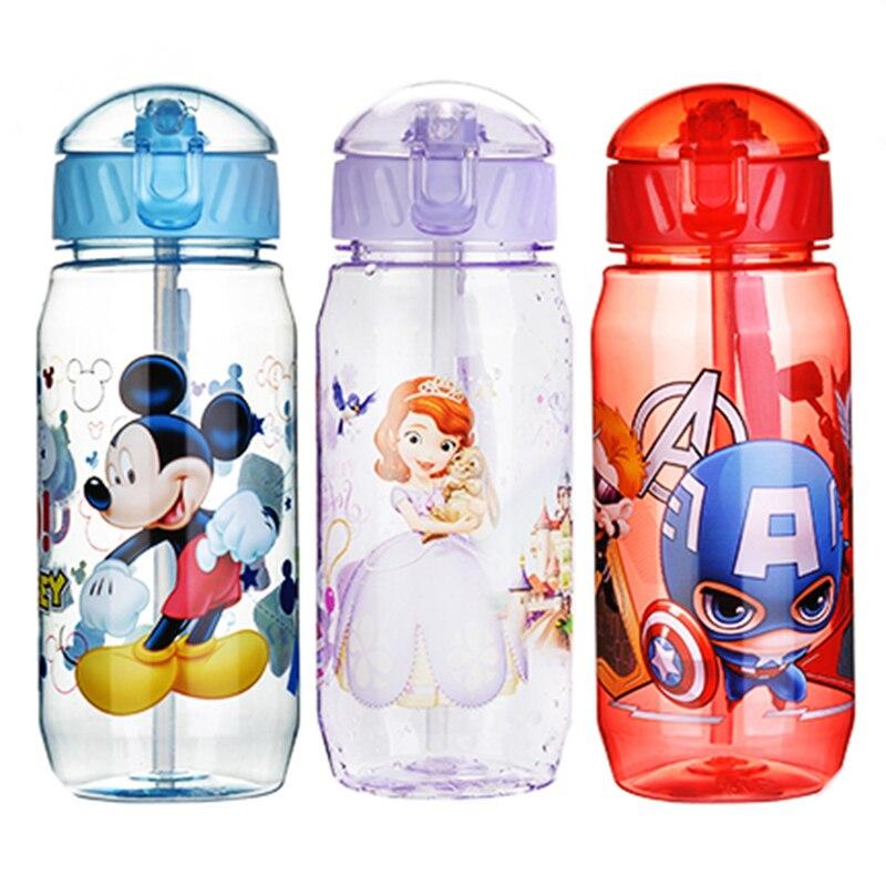 Cartoon Small Animal Sport Equipped Children High Capacity 400ml Vacuum Cute Water Bottle PP Plastic Bottle Kids Baby