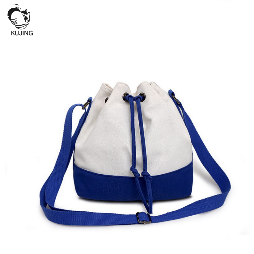 KUJING Brand Handbags High Quality Canvas Women Shoulder Messenger Bag Free Shipping Cheap Multi-color Women Shopping Casual Bag free shipping fashion multi color computer riding wave leisure shoulder messenger bag
