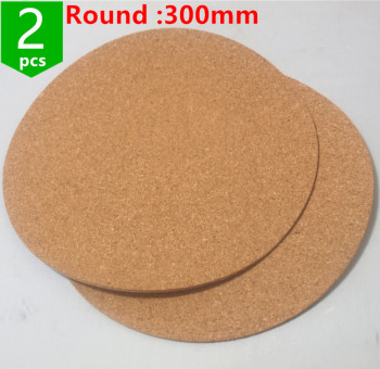 2pcs* Kossel 3D Printer round 300mm Issulation Cork sheet For Heatbed Heat Bed Hot Plate Round 300 mmFor 3d Printer image