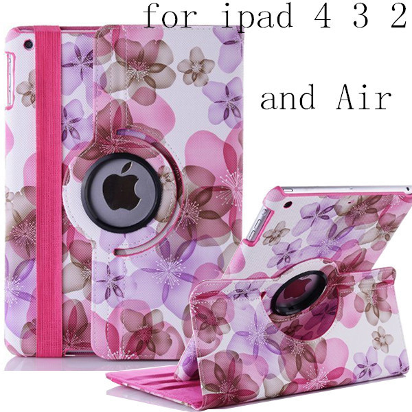 new arrival hot sell fashion flower girl\u0027s 360 rotate pu leathernew arrival hot sell fashion flower girl\u0027s 360 rotate pu leather case for apple ipad2 3 ipad4 ipad air ipad 5 tablet cover case