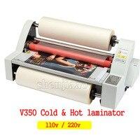 V350 пленка ламинатор четыре ролика Горячая рулонная машина для ламинирования электронный контроль температуры, рулонный ламинатор 1 шт.