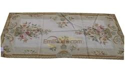Vintage Aubusson aguja-punto alfombra-lana francés lana bordado arte tapiz tejido a mano lana alfombras Runner