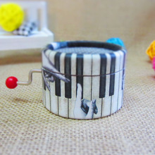 Piano Paper Hand Crank Music Box