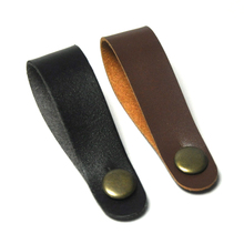 Lots of 10 pcs Leather Guitar Head Straps for Ukulele Bass Black Brown