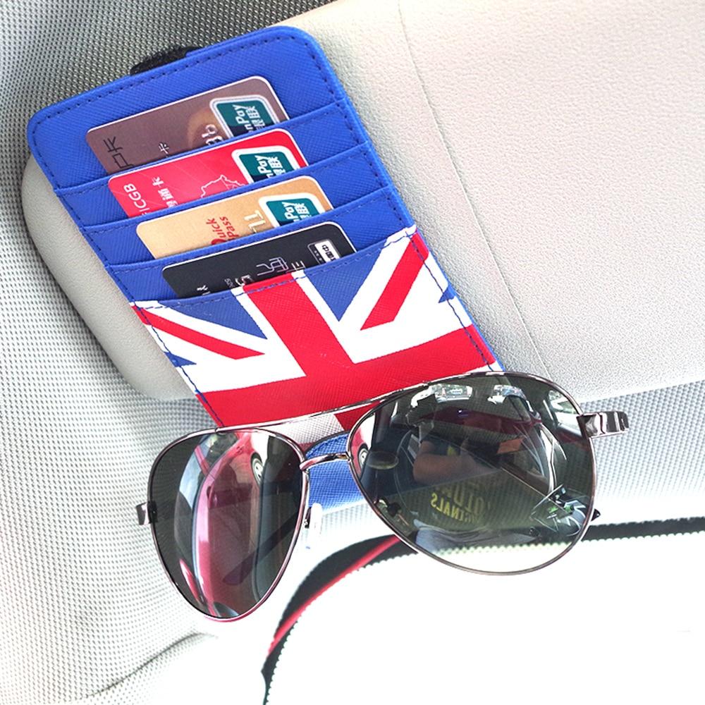 Car Styling Sun Visor Glasses Card Storage Package Holder Case Bag For Mini Cooper JCW One+ S F54 F55 F56 F60 R55 R56 R60 R61 side skirt body car decals sticker for bmw mini cooper s one jcw countryman clubman f54 f55 f56 f60 r55 r56 r60 r61 accessories