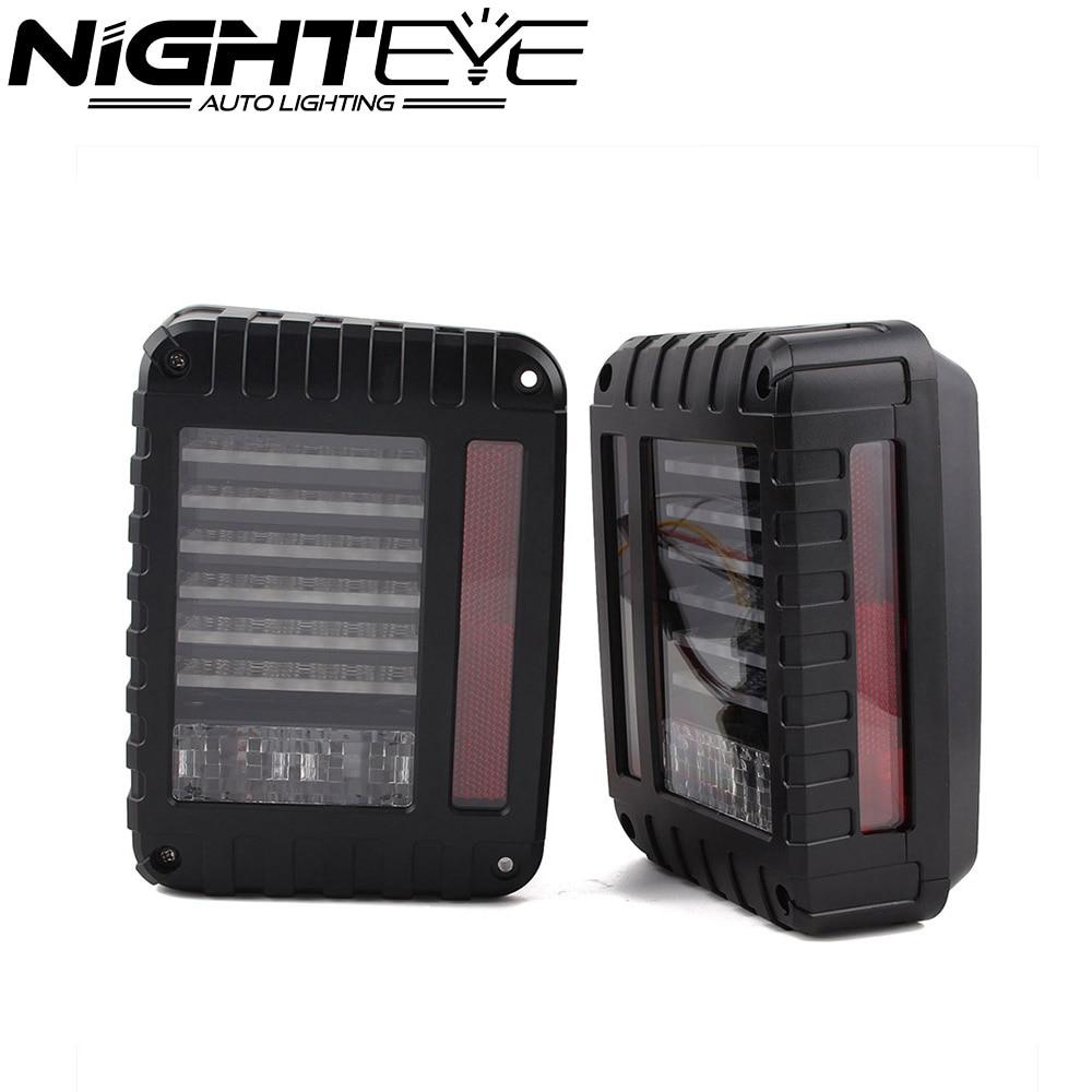 ФОТО Auto Car LED Tail Lights Rear Brake Reverse Lamps Turn Signal For Jeep Wrangler JK 07-16 US Free Shipping