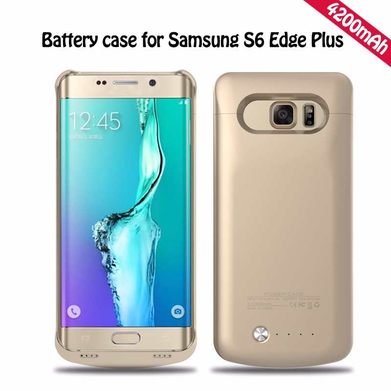 promo code 44379 dd590 4200mah Back Clip Battery Rechargeable External Battery Case for Samsung  Galaxy S6 Edge Plus back cases cover-in Phone Bags & Cases from Phones & ...