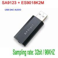 SA9123 + ES9018K2M USB DAC Audio HiFi PC Sound Card Headphone Amp Amplifier decoder USB external sound card