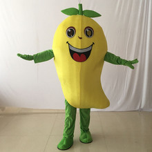 Mango Mascot Costume Fruit Cartoon Apparel Halloween Birthday Cosplay Adult Size Costumes Fancy Dress