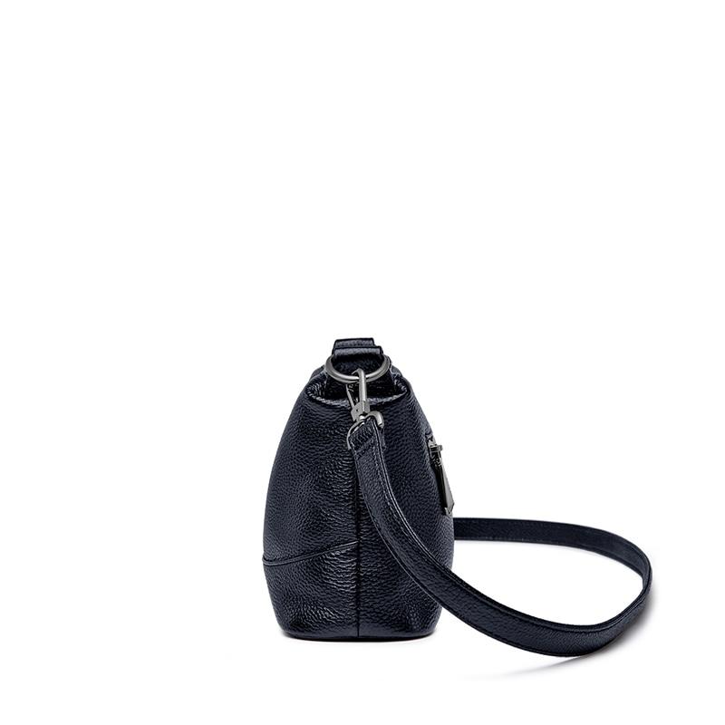 ZOOLER Ladies Leather Cow Purse Solid Black Woman Shoulder Bag  Soft Cross Body Genuine Leather Bags Women Bolsa Feminina#L112