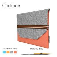 Fashion Unisex Portable Laptop Liner Sleeve Luxury Woolen Felt Business Briefcase For Macbook Tablet Ipad 11