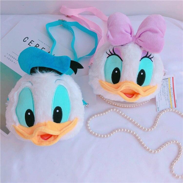 1pc Cartoon Donald Duck Plush Purses Lady Daisy Stuffed Toys Bags Girls Gifts Attractive Fashion
