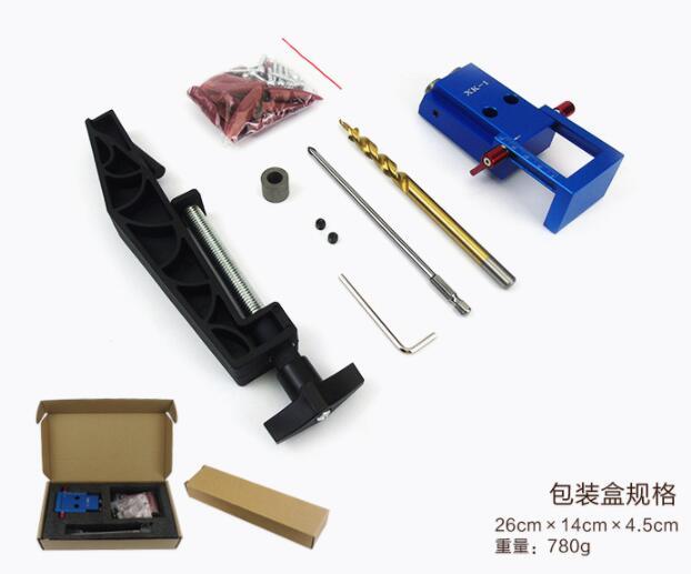 2018 neue Mini Kreg Stil Tasche Loch Jig Kit System Für Holz Arbeits & Tischlerei + Schritt Bohrer & zubehör Holz Arbeit Werkzeug Set