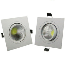 DHL  Square LED Recessed Dimmable COB Downlight lamp 6W 10W 14W AC85-265V light indoor